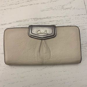 Coach two tone leather wallet